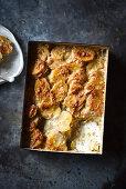 Cacio Pepe Potato Bake (potato gratin with cheese and pepper)