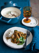 Beef curry with cilantro