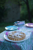 Ricotta tart with apples and sour cherries