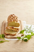 Pane al paruch (bread with wild spinach, Val Brembana, Lombardy, Italy)