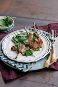 Rack of lamb with parsley butter