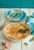 Cheese omelette soufflee