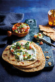 Yoghurt and herb flatbreads