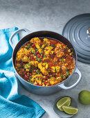 Tandoori cauliflower and chickpea curry