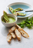 Basil rouille with bread