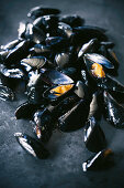 Mussels on a metal surface