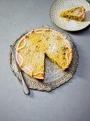 Torta di riso (Tuscan rice cake with saffron, Italy)