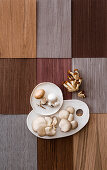 Velvet pioppini, mushrooms, button mushrooms and oyster mushrooms
