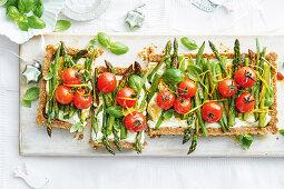 Ricotta and roasted vegetable tart