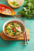 Fragrant chicken noodle soup
