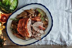 Pot roast poerk with pears