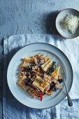 Italiean sausage, chickpea and parmesan rigatoni