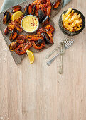 Chargrilled seafood platter with chips and aïoli