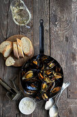 Mussels with parmesan, fennel and salsiccia