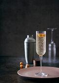 Elderflower and sparkling wine cocktail