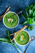 Wild garlic cream soup