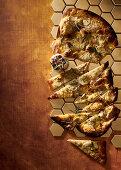 Potato, rosemary, honey and roasted garlic flatbread