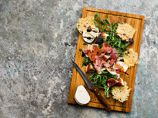 Cumbrian ham with fresh figs and parmesan crisps