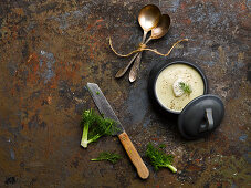 West country fennel apple soup