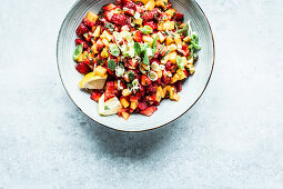 Strawberry and mango salsa