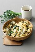 Mafalde e cavolfiore alla napoletana (gratinated pasta with cauliflower, Italy)