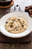 Mushrooms and parmigiano risotto