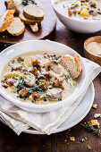 Mushrooms tuscan soup