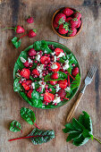 Strawberry salad with feta
