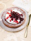 Yoghurt and cranberry cake