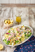 Baked cauliflower and couscous salad