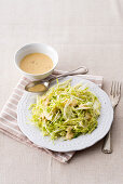 Savoy cabbage and fennel salad with a mustard vinaigrette