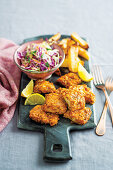 Southern baked hake with slaw