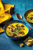 Coconut and turmeric chicken livers