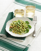 Trofie with baby spinach pesto