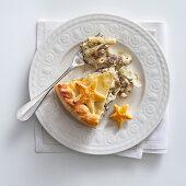 Artichoke sausage pie