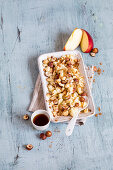 Baked apples with hazelnuts and cinnamon