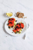 Oven roast fish with tomatoes and olives