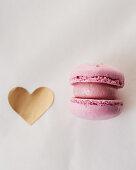 Pink macaron for Valentine's Day