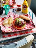 Juicy lucy burger