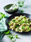 Pan-Friend Gnocchi with Green Tomato Sugo