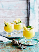 Passionfruit Jelly with Poached Pineapple
