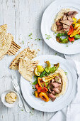 Fast Moroccan Roast Lamb with Butter Bean Hummus