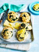 Spinach and Feta Bread Rolls (gluten-free)
