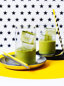 Iced matcha agave almond latte