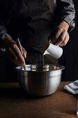 Adding oil in sourdough mixture