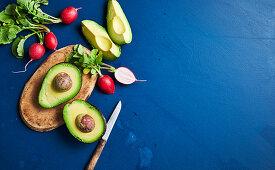 Avocado and radish
