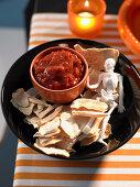 Healthy Halloween: Skeleton Crisps with Salsa