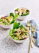 Zucchini and Artichoke Pasta Salad