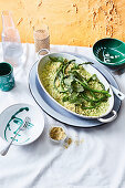 Asparagus, lemon and mint risotto