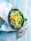Preserved lemon and mint couscous salad